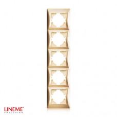Πλαίσιο 5 (πέντε) θέσεων κάθετο χρυσό ματ χρώμα σειρά lineme