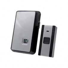 Ασύρματο κουδούνι μαύρο ασημί με 36 μελωδίες led λαμπάκι 65-85dB επίπεδο ήχου και απόσταση λειτουργίας έως 80 μέτρα
