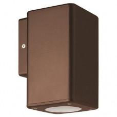 Σπότ φωτιστικό απλίκα τοίχου πλαστική GU10 μονής δέσμης down τετράγωνη χρώματος αντικέ χαλκού 14,8cm στεγανή IP65 εξωτερικού χώρου