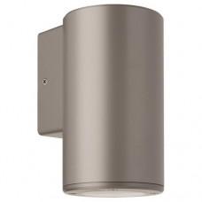Φωτιστικό απλίκα τοίχου πλαστική GU10 μονής δέσμης στρογγυλή χρώματος γκρί 14,8cm στεγανή IP65 εξωτερικού χώρου