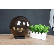 Φωτιστικό μπάλα πλαστική δαπέδου Φ20cm PMMA χρώματος μελί με βάση γρίβα και ντουί E27 εξωτερικού χώρου στεγανή IP54