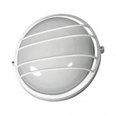 Φωτιστικό μεταλλικό απλίκα και πλαφονιέρα στρογγυλή τοίχου οροφής Φ24cm λευκό χρώμα με γραμμές E27 εξωτερικού χώρου στεγανό IP44