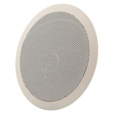 Ηχείο χωνευτό γυψοσανίδας μουσικής 10W οροφής 100V λευκό στεφάνι με διάμετρο 24cm x 8cm