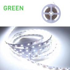Ταινία Led 6W πράσινο φως 12V DC μη στεγανή IP20 εύκαμπτη αυτοκόλλητη 120°