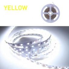 Ταινία Led 6W 12V DC μη στεγανή IP20 κίτρινο φως εύκαμπτη αυτοκόλλητη 120°