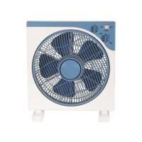 Ανεμιστήρας δαπέδου τετράγωνος 45W Φ30cm box fan περιστρεφόμενος 5 φτερωτές και 3 ταχύτητες άσπρο μπλε