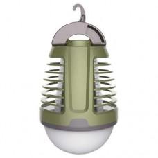 Λάμπα led UV 5W κρεμαστή εντομοαπωθητική (εντομοκτόνο) επαναφορτιζόμενη μπαταρία με USB πλέγμα υψηλής τάσης στεγανή IP44 ψυχρό λευκό φως 6500Κ 70lumens