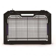 Εντομοπαγίδα ηλεκτρική LED (εντομοκτόνο) 4W (αντιστοιχία 10W) με δίσκο περισυλλογής εντόμων και βουρτσάκι κάλυψη εώς 50m² πλαστικό 38cm x 26,5cm μαύρο