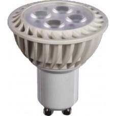 Λάμπα led GU10 220V 4W ψυχρό λευκό φως 6000Κ για σποτ στενής δέσμης 45° Φ50mm 300lumens