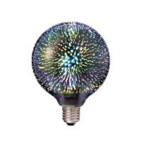 Λάμπα led filament edison Φ95 (G95) γλόμπος (globe) 7W διακοσμητική fiber 3D Ε27 ευρείας δέσμης 360° 230V πολύχρωμο φως