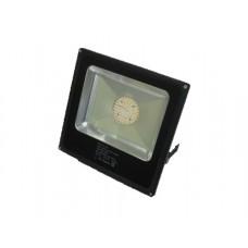 Προβολέας led 30W με Samsung smd 4000 lumen θερμό λευκό φώς 3000Κ αλουμινίου χρώματος μαύρο 265V στεγανός αδιάβροχος IP65 22cm x 22cm x 5cm