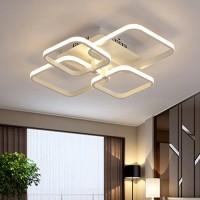 Φωτιστικό led 68W οροφής λευκό ντιμαριζόμενο (dimmable) με ασύρματο τηλεχειριστήριο εναλλαγής φωτισμού θερμό φυσικό ψυχρό 58cm x 46cm