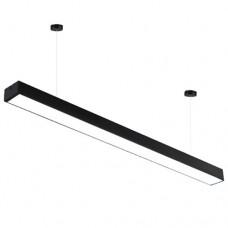 Φωτιστικό led 36W κρεμαστό μαύρο 120cm φυσικό ενδιάμεσο λευκό φως 4000Κ γραμμικό αλουμινίου 2850 lumens