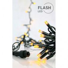 Χριστουγεννιάτικα 700 flash led (αναβόσβημα) λαμπάκια (φωτάκια) θερμά λευκά στεγανά IP44 με επέκταση έως 2 συσκευασίες και πράσινο καλώδιο 7310cm