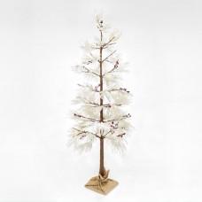 Χριστουγεννιάτικο δέντρο χιονισμένο με berry φωτιζόμενο 132 led λαμπάκια θερμό λευκό φως διαστάσεων 210cm x 80cm μη στεγανό IP20