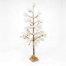 Χριστουγεννιάτικο δέντρο χιονισμένο με berry φωτιζόμενο 90 led λαμπάκια θερμό λευκό φως διαστάσεων 180cm x 60cm μη στεγανό IP20