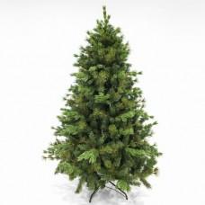 Χριστουγεννιάτικο δέντρο 210cm (2,10 μέτρα) έλατο mix με πευκοβελόνα pvc και πλαστικό διάμετρος 145cm μεταλλική βάση 1407 κλαδιά