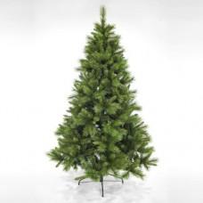 Χριστουγεννιάτικο δέντρο 210cm (2,10 μέτρα) pvc mixed πεύκο έλατο διάμετρος 127cm μεταλλική βάση 1046 κλαδιά