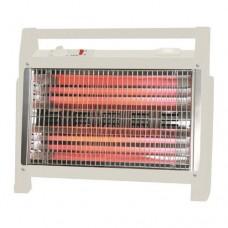 Θερμάστρα χαλαζία 1600W δαπέδου λευκή 46cm περιοχή κάλυψης 25m² αθόρυβη λειτουργία και διακόπτη ασφαλείας από πτώση