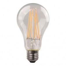 Λάμπα led κοινή (αχλάδι) 4,5W 2700K έντονο θερμό λευκό φως διάφανο γυαλί Ε27 Α60 filament edison crossed ευρείας δέσμης 360° 480lumen 220V