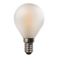 Λάμπα led σφαιρική (μπαλάκι) E14 4,5W 3000K θερμό λευκό φως ματ (γαλακτούχο) γυαλί G45 filament edison crossed 360° 480lumen 220V