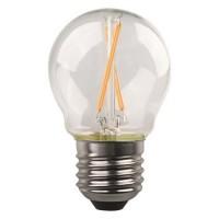 Λάμπα led σφαιρική (μπαλάκι) E27 4,5W 4000K ενδιάμεσο λευκό φως διάφανο γυαλί G45 filament edison crossed 360° 480lumen 220V