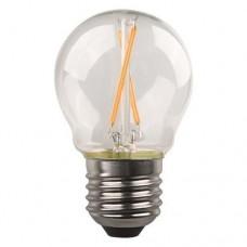Λάμπα led σφαιρική (μπαλάκι) E27 4,5W 3000K θερμό λευκό φως διάφανο γυαλί G45 filament edison crossed 360° 480lumen 220V