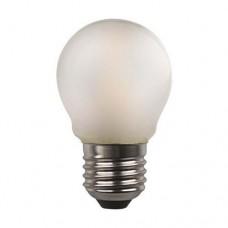 Λάμπα led σφαιρική (μπαλάκι) E27 4,5W 3000K θερμό λευκό φως ματ (γαλακτούχο) γυαλί G45 filament edison crossed 360° 480lumen 220V