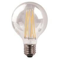 Λάμπα led γλόμπος (globe) Φ95 E27 11W 6500K ψυχρό λευκό φως ντιμαριζόμενη (dimmable) διάφανο γυαλί G95 filament edison crossed 360° 1600lumen 220V