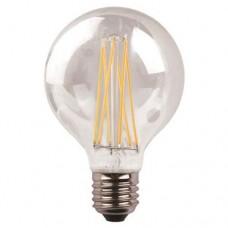 Λάμπα led γλόμπος (globe) Φ95 E27 8W 3000K θερμό λευκό φως διάφανο γυαλί G95 filament edison crossed 360° 1055lumen 220V