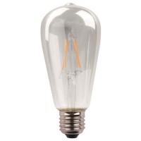 Λάμπα led αβοκάντο ST64 E27 11W 6500K ψυχρό λευκό φως ντιμαριζόμενη (dimmable) διάφανο γυαλί filament edison crossed 360° 1600lumen 220V