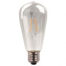 Λάμπα led αβοκάντο ST64 E27 11W 3000K θερμό λευκό φως ντιμαριζόμενη (dimmable) διάφανο γυαλί filament edison crossed 360° 1600lumen 220V