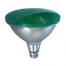 Λάμπα Led PAR38 κήπου 42V AC DC χαμηλής τάσεως 15W πράσινο φως στεγανή IP65 σκληράς υάλου Ε27 45⁰