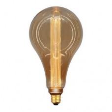 Λάμπα led vintage decor P165 αχλάδι 3,5W ντιμαριζόμενη (dimmable) χρυσό (gold) γυαλί Ε27 2000K έντονο θερμό λευκό φως 360° 120lumen 220V