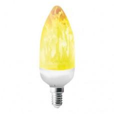 Λάμπα led 3W E14 με εφέ φλόγας έντονο θερμό λευκό φως 1500Κ κερί (κεράκι) διακοσμητική flame C37 360⁰ 220V