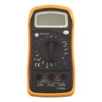 Πολύμετρο ψηφιακό DT-850L με led οθόνη στεγανό IP44 χρώματος μαύρο πορτοκαλί