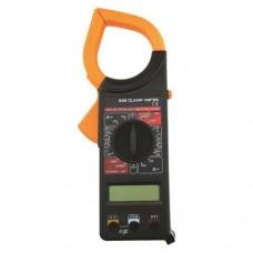 Αμπεροτσιμπίδα ψηφιακή DT-266 με led οθόνη στεγανή IP44 χρώματος μαύρο πορτοκαλί