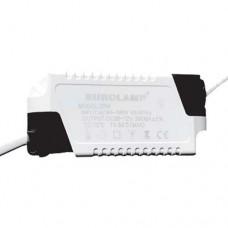 Ανταλλακτικό τροφοδοτικό για led panel 20W (20 watt) πλαστικό από 85V έως 265V AC 300MA