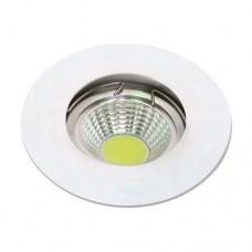 Σποτ (spot) φωτιστικό χωνευτό γυψοσανίδας στρογγυλό σταθερό χρώματος λευκό αλουμινίου Φ8cm (εγκοπής 6cm) με ντουί GU10 για λάμπες led