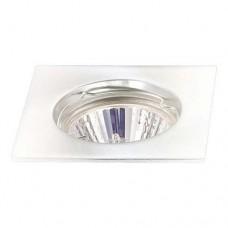 Σποτ (spot) φωτιστικό χωνευτό γυψοσανίδας τετράγωνο σταθερό χρώματος λευκό αλουμινίου Φ7,8cm (εγκοπής 5,9cm) με ντουί MR16 για λάμπες led
