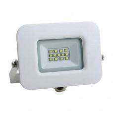 Προβολέας led 10W smd ενδιάμεσο λευκό φώς 4000Κ extra slim 12,7cm x 11,3cm τύπου tablet αλουμινίου λευκό σώμα στεγανός αδιάβροχος IP65 950lumens