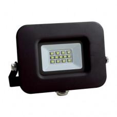 Προβολέας led 10W smd ενδιάμεσο λευκό φώς 4000Κ extra slim 12,7cm x 11,3cm τύπου tablet μαύρο σώμα αλουμινίου στεγανός αδιάβροχος IP65 950lumens