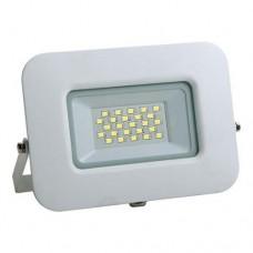 Προβολέας led 20W smd ενδιάμεσο λευκό φώς 4000Κ extra slim 16,2cm x 13,6cm τύπου tablet αλουμινίου λευκό σώμα στεγανός αδιάβροχος IP65 1900lumens