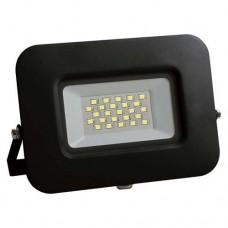 Προβολέας led 20W smd ψυχρό λευκό φώς 6500Κ extra slim 16,2cm x 13,6cm τύπου tablet μαύρο σώμα αλουμινίου στεγανός αδιάβροχος IP65 1900lumens