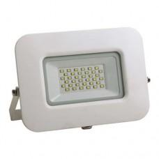 Προβολέας led 30W smd ενδιάμεσο λευκό φώς 4000Κ extra slim 19,2cm x 15,7cm τύπου tablet αλουμινίου λευκό σώμα στεγανός αδιάβροχος IP65 2850lumens