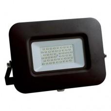 Προβολέας led 50W smd ενδιάμεσο λευκό φώς 4000Κ extra slim 22,7cm x 18,5cm τύπου tablet μαύρο σώμα αλουμινίου στεγανός αδιάβροχος IP65 4750lumens