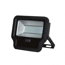 Προβολέας led 50W smd θερμό λευκό φώς 3000Κ τάση από 85V έως 265V αλουμινίου χρώματος μαύρο 22,5cm x 19cm στεγανός αδιάβροχος IP65 4750lumens
