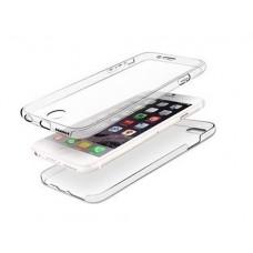 ΘΗΚΗ iPHONE 7 PLUS ΚΙΝΗΤΟΥ ΤΗΛΕΦΩΝΟΥ ΜΠΡΟΣΤΑ - ΠΙΣΩ (FRONT - BACK) ΣΙΛΙΚΟΝΗΣ ΔΙΑΦΑΝΟ ΧΡΩΜΑ