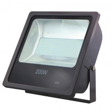 ΠΡΟΒΟΛΕΑΣ LED SMD 200W (200WATT) ΨΥΧΡΟ ΛΕΥΚΟ 6000Κ ΣΤΕΓΑΝΟΣ IP65 18000 lumens 85V-265V AC