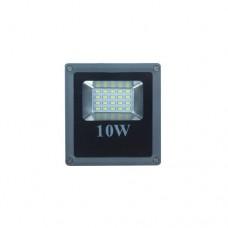 ΠΡΟΒΟΛΕΑΣ LED SMD 10W ΕΝΔΙΑΜΕΣΟ ΛΕΥΚΟ ΦΩΣ 4000Κ ΑΛΟΥΜΙΝΙΟΥ ΓΚΡΙ ΣΤΕΓΑΝΟΣ IP65 1000 lumens 240V